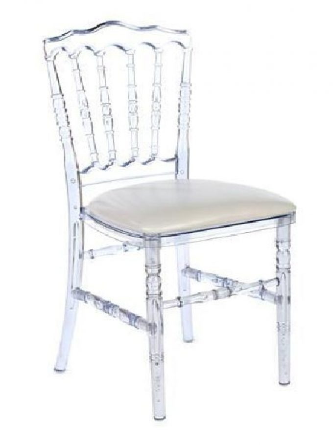 chaise napolon cristal assise blanche